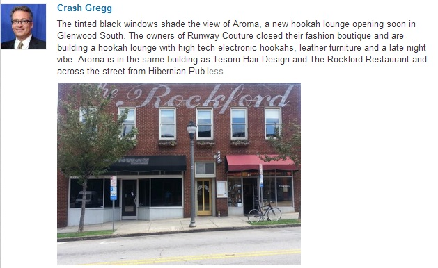 Aroma hooka lounge in Downtown Raleigh