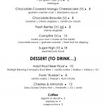 New fall dessert menu debuted at ORO