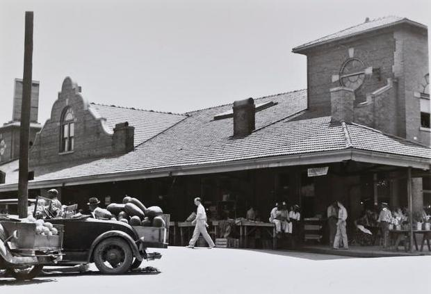 Historic City Market in Raleigh from the North Carolina Office of Archives and History