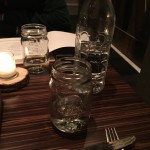 Water served in mason jars
