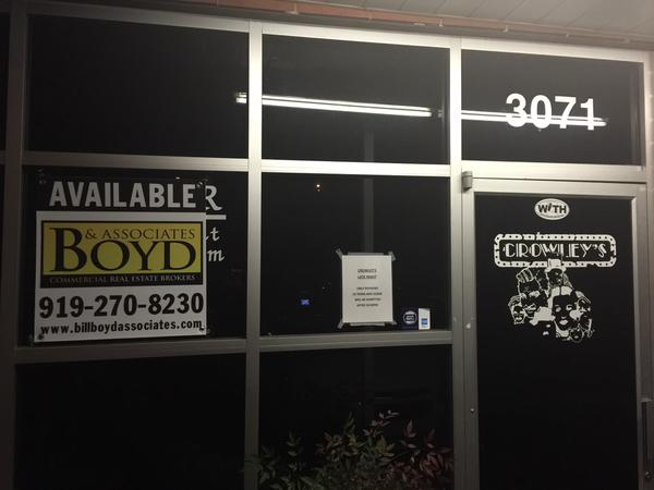 Crowley's space available for rent