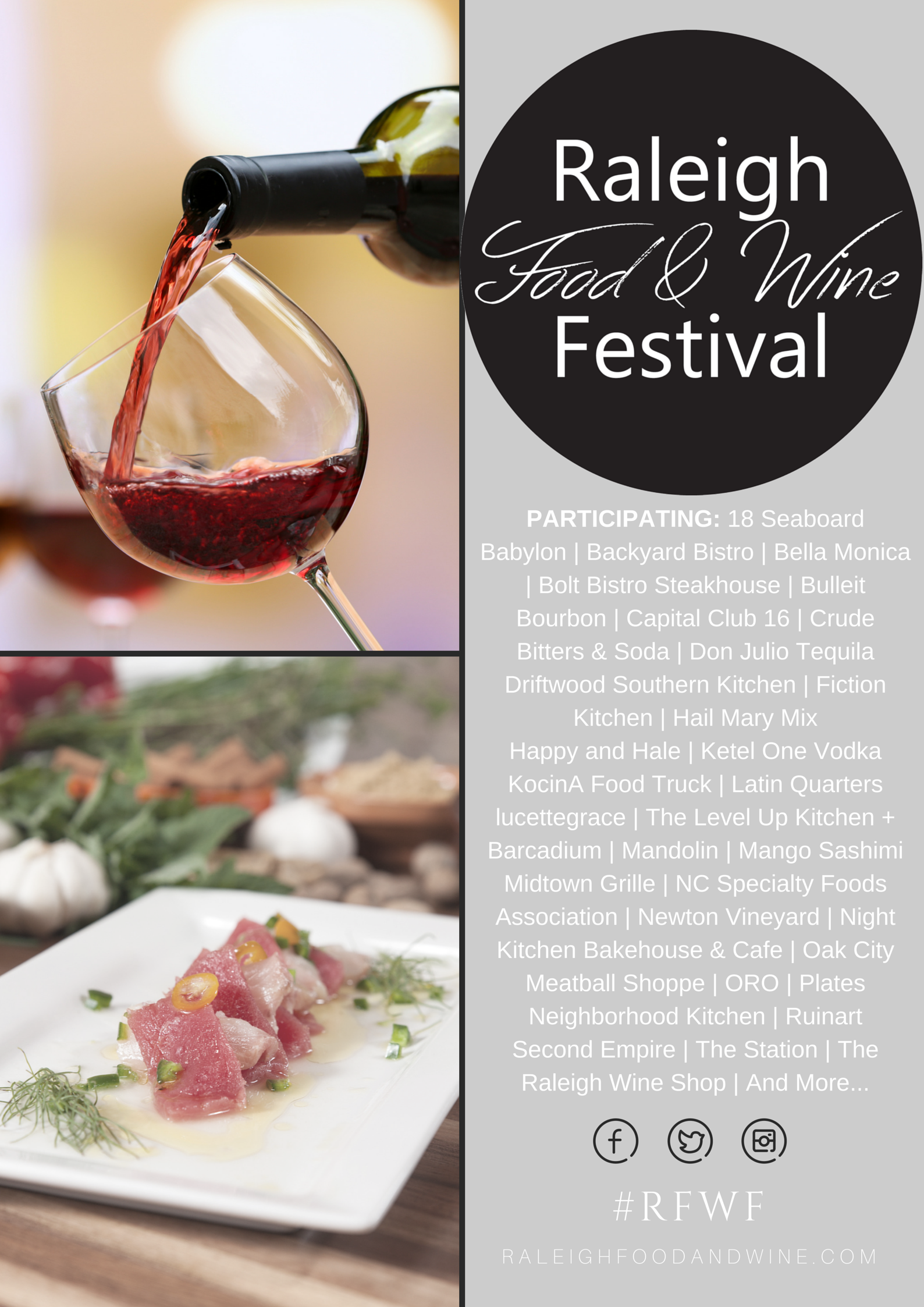 Raleigh Food & Wine Festival - 2015 Participants