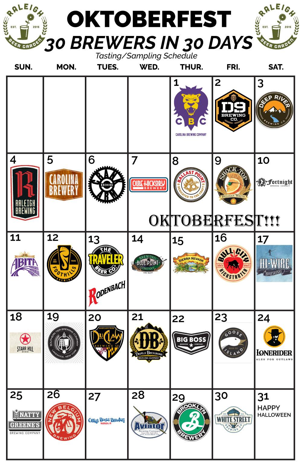 Raleigh Beer Garden Oktoberfest Tastings