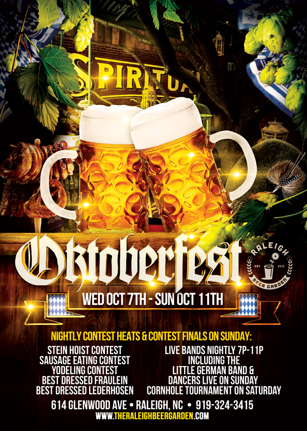 Raleigh Beer Garden Celebrates Oktoberfest with Full Month of Events