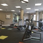 Residents workout studio at The Lincoln Apartments
