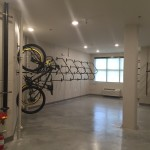 Bike storage and repair room at The Lincoln Apartments