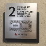 Floor marker shows the building layout at The Lincoln Apartments
