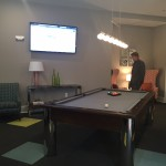 Residents lounge space at The Lincoln Apartments
