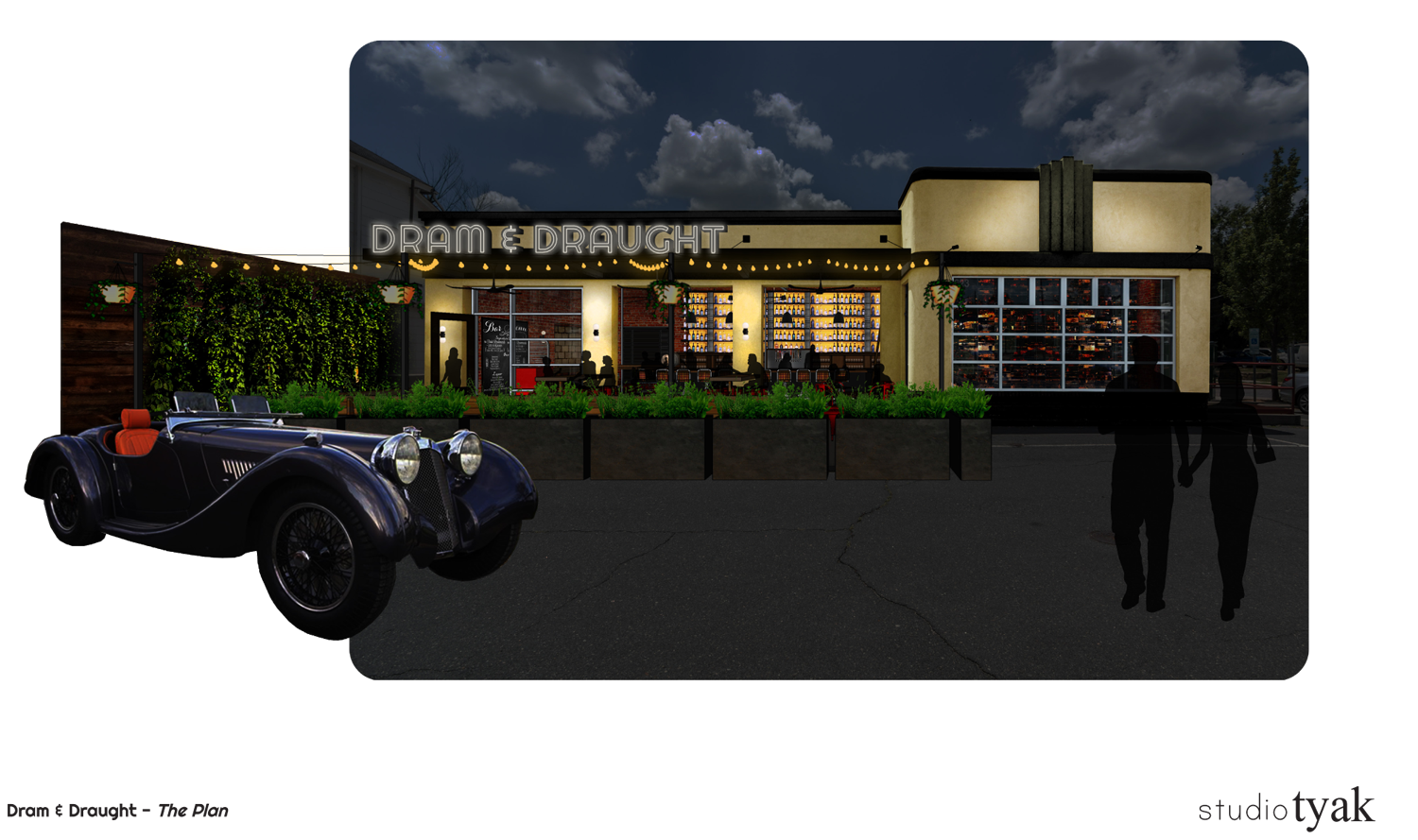 Exterior concept rendering for Dram and Draught