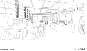 More interior bar plans for Dram and Draught