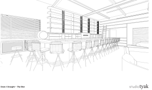 Interior bar plans for Dram and Draught