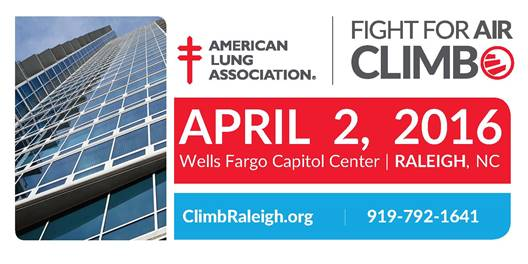 DTRNews.com | Downtown Raleigh News | American Lung Association's Fight for Air Climb at Fayetteville Street's Wells Fargo Capitol Center
