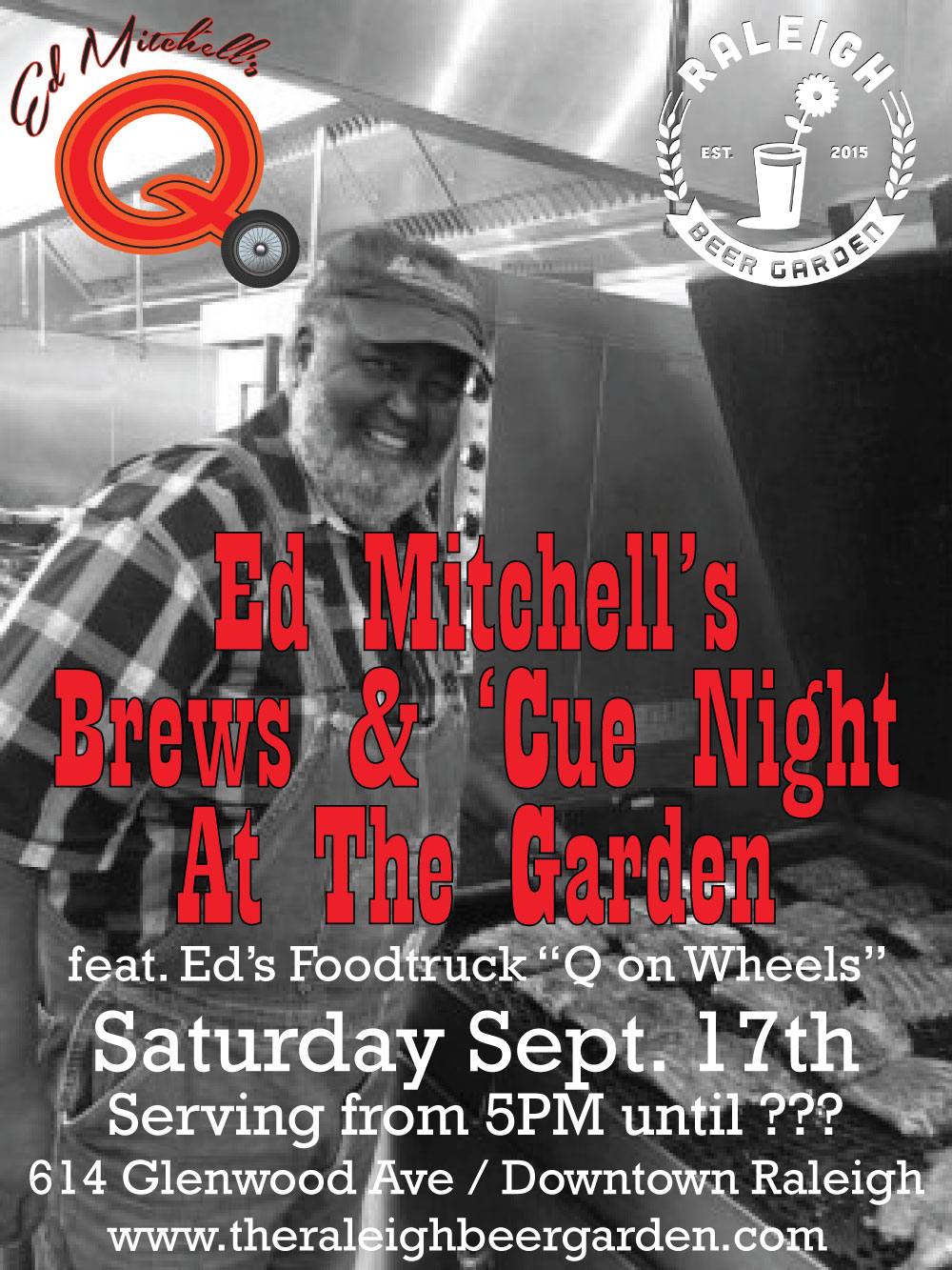 Ed Mitchell's Brews & 'Cue coming to Raleigh Beer Garden for one-day event in September