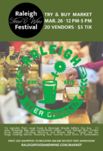 Raleigh Food & Wine Festival Try & Buy Market postponed to Sunday, March 26, 2017