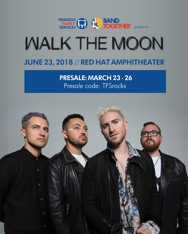 Walk the Moon to headline 2018 Band Together Main Event