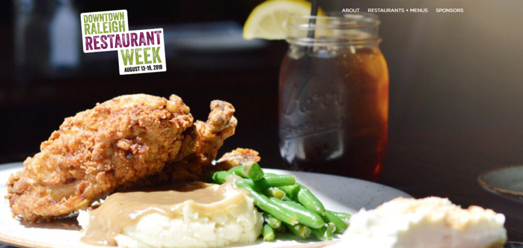 Downtown Raleigh Restaurant Week 2018